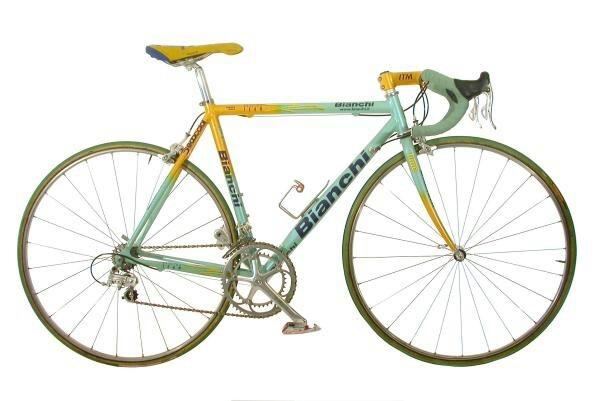 Mítica bicicleta Bianchi de Marco Pantani en 1998