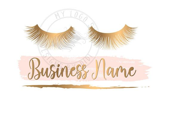 Custom logo pink gold lashes logo eyelash logo cosmetics