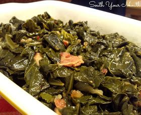 South Your Mouth: Southern Style Collard Greens; no pepper sauce or ham hock needed!!