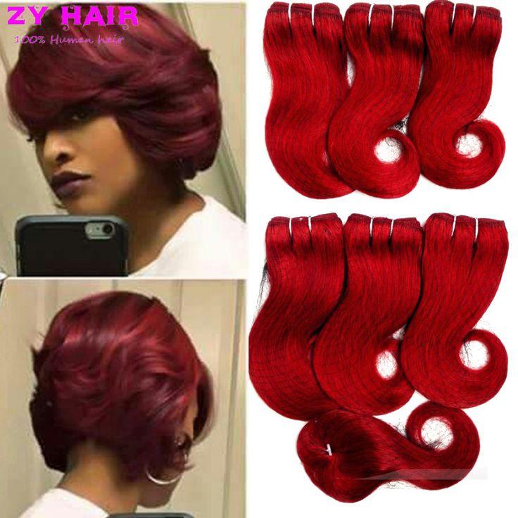 HumanHair Granel 7A Brasileño Onda Del Cuerpo 6 paquetes con Cierre Bresilien Cheveux Avec VirginHair Corto Bob Estilo de Pelo de la Armadura