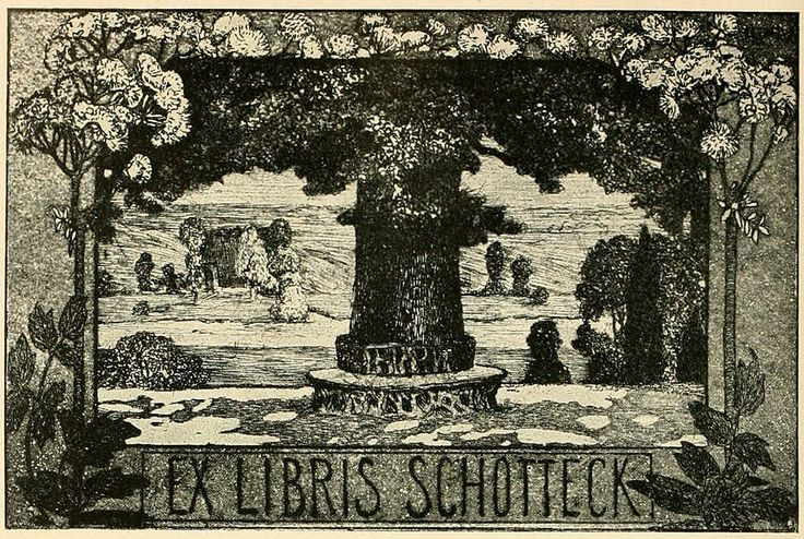 Bookplate by Heinrich Johann Vogeler for Schotteck, ??