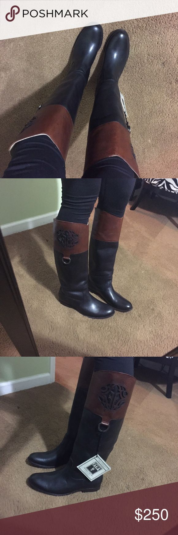 Frye Melissa Boot Beautiful soft leather boots! Brand new.. I love love love these but just don't wear them 🙅NO TRADES Frye Shoes