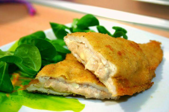 FILETES DE POLLO RELLENOS en esta ocasion de quesitos y atun, ¡fantasticos! receta muy facil, fotosd paso a paso. receta barata