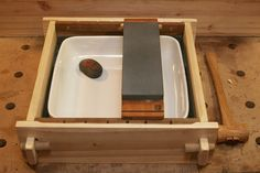 Japanese tools #8: Sharpening station for water stones the pond - by mafe @ LumberJocks.com ~ woodworking community                                                                                                                                                                                 More