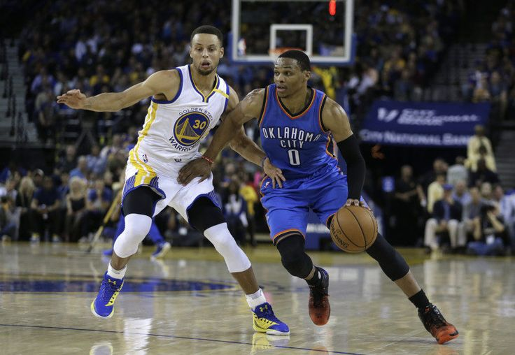 Rosen: Russell Westbrook and Stephen Curry an unfair battle = In addition to, and superseding, the first meeting of Russell Westbrook's Oklahoma City Thunder and Kevin Durant's Golden State Warriors, the game was also billed as a battle between the two best point guards in creation—Westbrook and Stephen Curry.  While.....