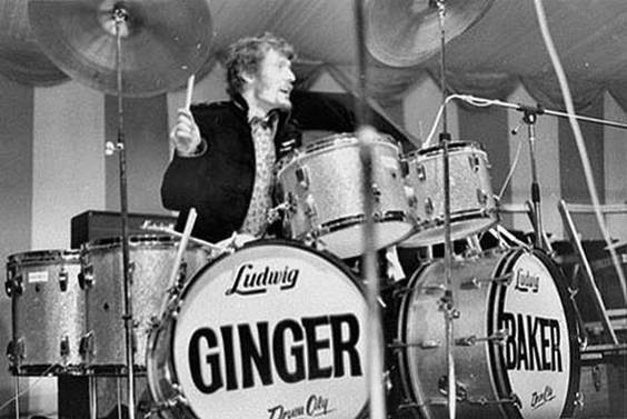 While some thought it strange to play two bass drums, Ginger Baker pioneered the double bass kit for rock.