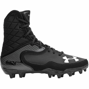 Under Armour Cam Highlight MC Youth Football Cleats - Black/Black - $69.95