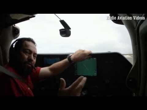 Como se hace un despegue normal en un Cessna 182 equipado con el Garmin 1000 - YouTube