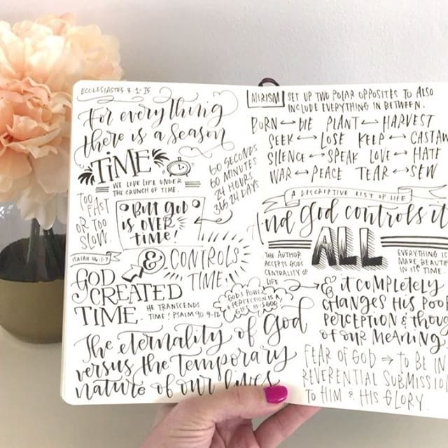 I feel like I need to listen to today's sermon again there was so much there!  #churchjournal #sketchnotes #churchlettering  @christcitychurch