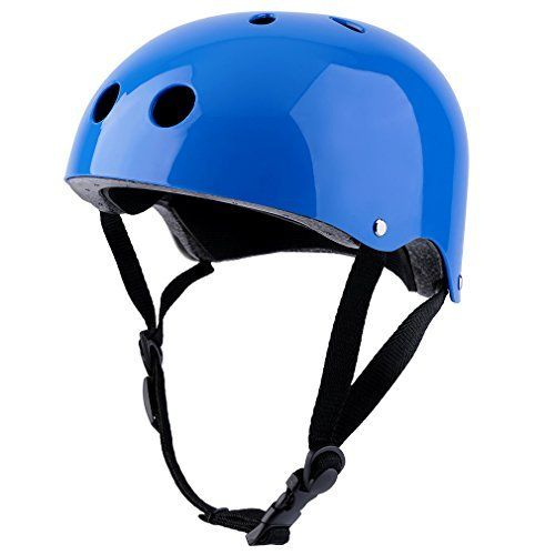 Kids Helmet is made from ABS(Acrylonitrile Butadiene Styrene), EPS(Expanded Polystyrene) foam and soft cotton liner.100% Brand new and high quality!The compact shell offers great protection and the EPS foam gives buffer for accidentally falling. The 11 vents design provides great ventilation and...