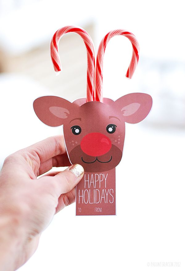 FREE printable reindeer card- cute for school