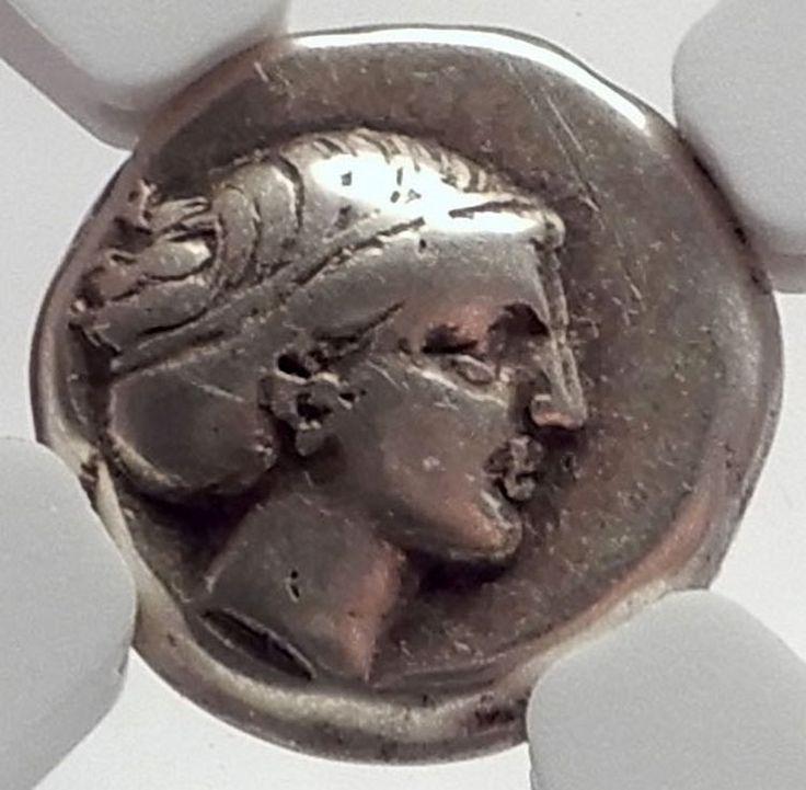 MYTILE Greek LESBOS Island 377BC Electrum Ancient Coin Possib SAPPHO? NGC i64284