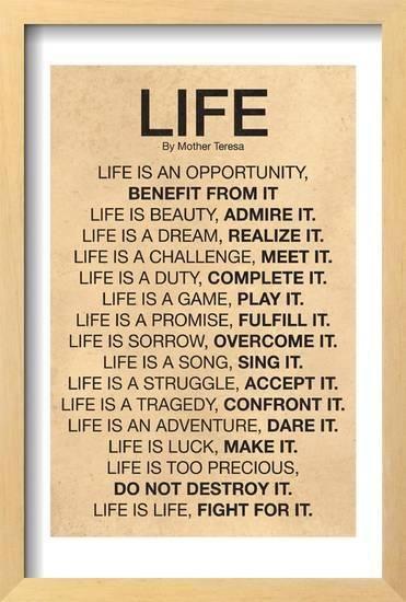 Mother Teresa Life Quote Poster Art Pinterest Life Quotes Best Life Quotes Mother Teresa