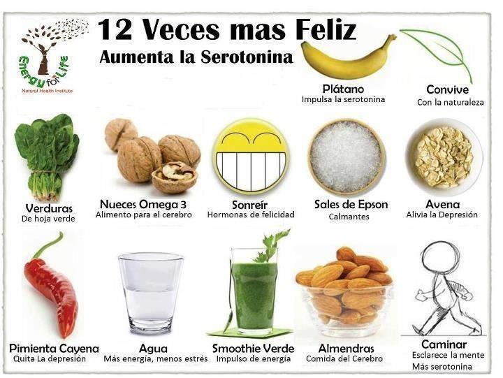Alimentos que aumentan la serotonina: Infografía Salud, Sana Food, Salud Mucha, Food, Infografías Salud, Health, Mucha Salud, Grafía Recetas, Natural
