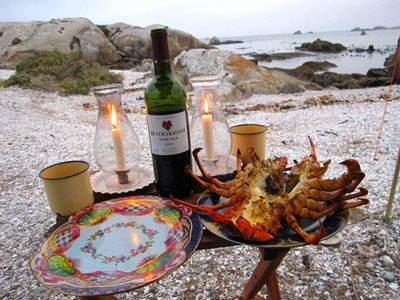 Crayfish - typical West Coast food - 66 Square Feet: Paternoster and Cape Columbine: day