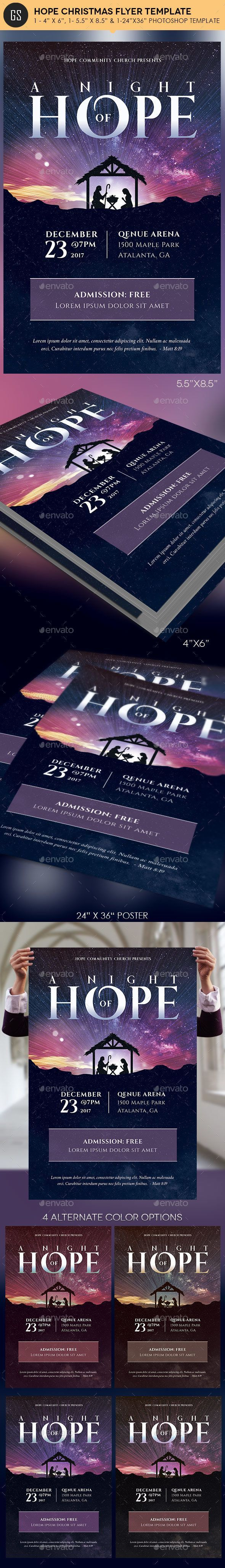Hope Christmas Flyer Poster Template - Church Flyers