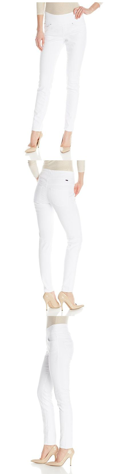 JAG JEANS WOMEN'S NORA SKINNY PULL ON JEAN------- Color: White------- 98% Cotton, 2% Spandex------- Leg opening 11.5 inch------- Inseam 31 inch------- Tight,Skinny Jeans for Casual -------Wear in Summer/Spring of 2016-------