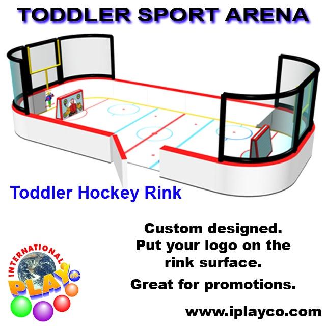 Toddler Hockey Sport Arena ~ soft foam play by Iplayco ~ indoor playgrounds www.iplayco.com
