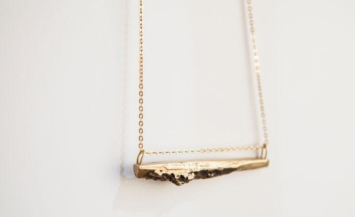 Brass Aridus Necklace | By vim beget