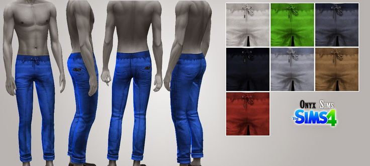 TS4 - Male Bottom No1 - Onyx Sims