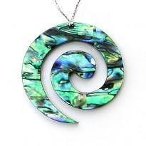 NZ Paua Shell Maori Koru Xmas Ornament