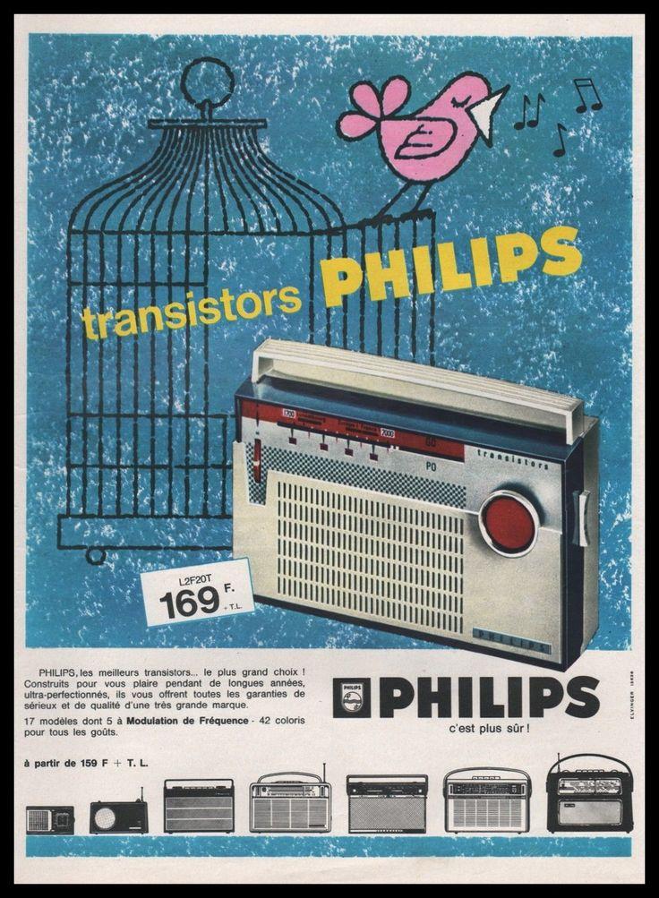 Publicité Poste Radio Transitor Philips vintage ad 1963 -6i | eBay