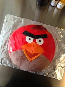 Angry Birds cake 2013