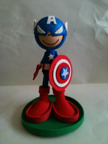 Captain America Fofucho by anapeig.deviantart.com