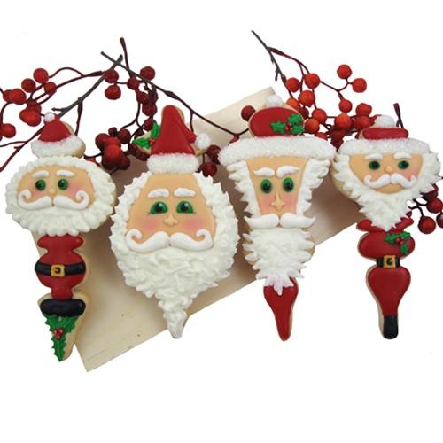 Santa cupcakes..love the design!