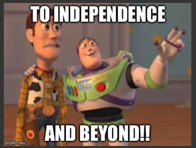 I LOVE THIS SO MUCH!!! If anyone who knows me knows how much I'm going off about independence.