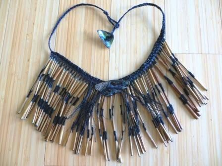 Flax Weaving - Necklace