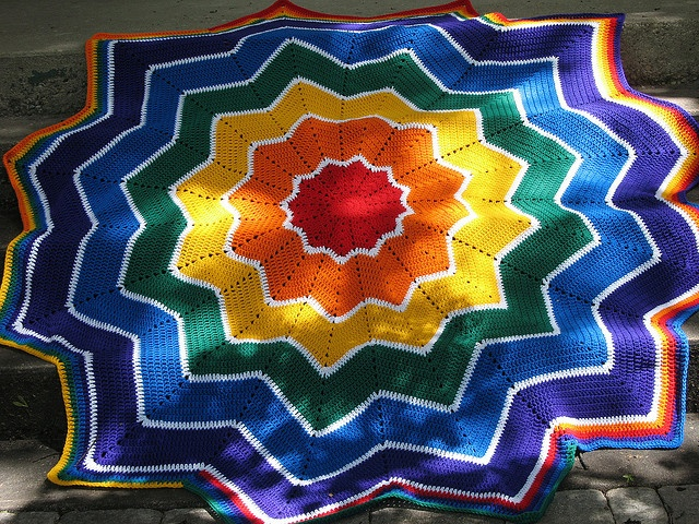 1000+ Images About Crochet Star & Round Afghans On
