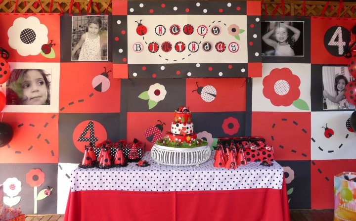 modern ladybug baby shower theme ideas