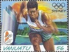 Stamp: Running (Vanuatu) (Olympic Games) Mi:VU 1121