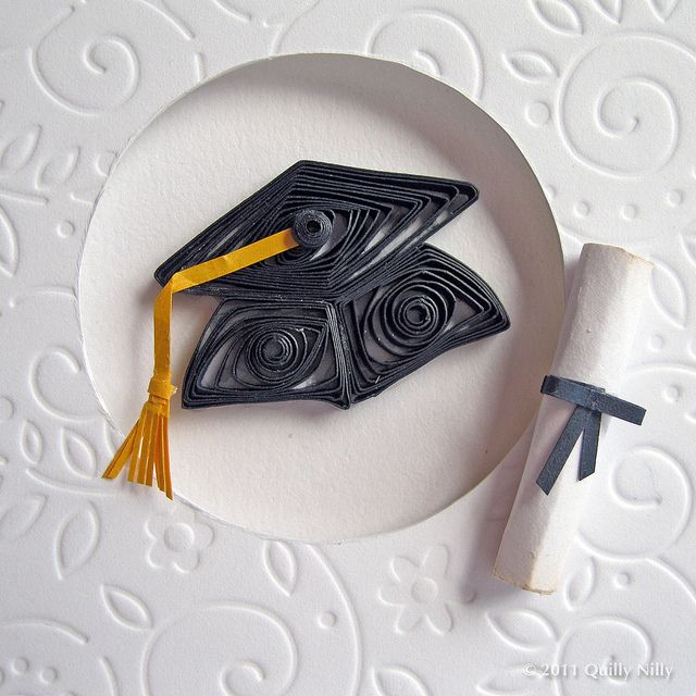 Paper Quilled Graduation Card