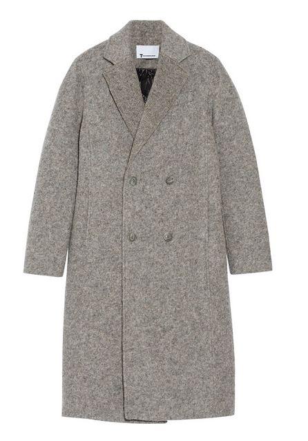 New Coat: T by Alexander Wang donegal reversible wool-blend felt coat / Garance Doré