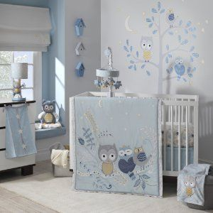 Lambs and Ivy Happi Night Owl Baby Bedding Collection