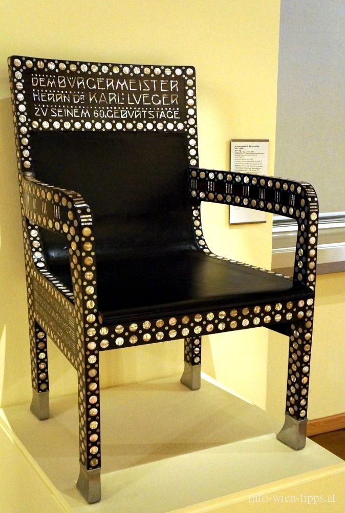 armlehnsessel f r b rgermeister karl lueger 1904 entwurf. Black Bedroom Furniture Sets. Home Design Ideas