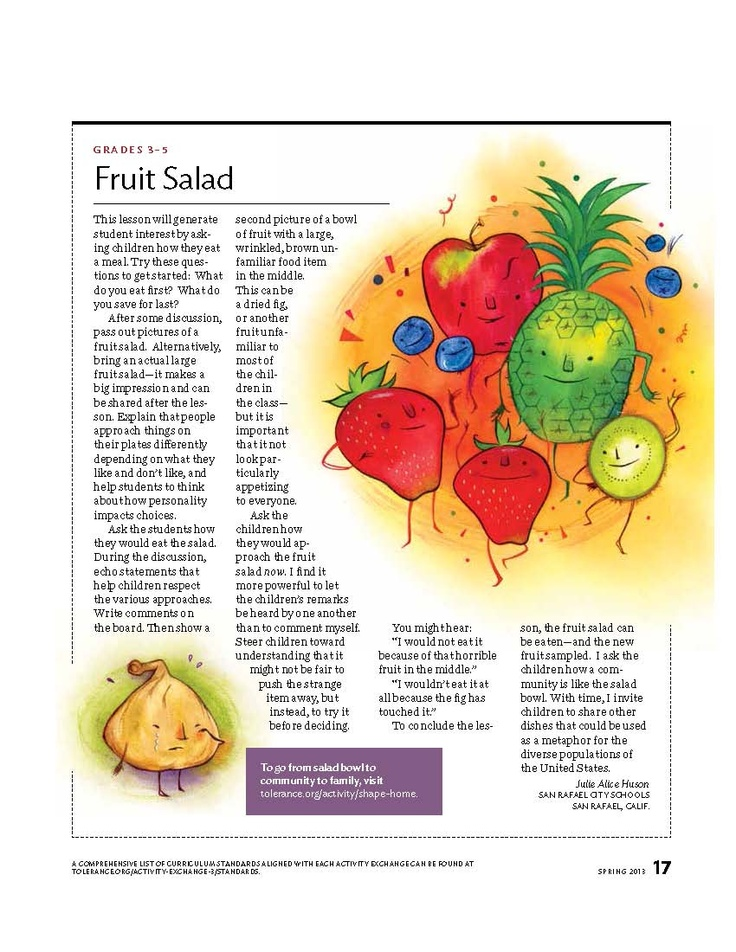 activity plan fruit salad Activity for children to practise singular and plural forms of fruit vocabulary.