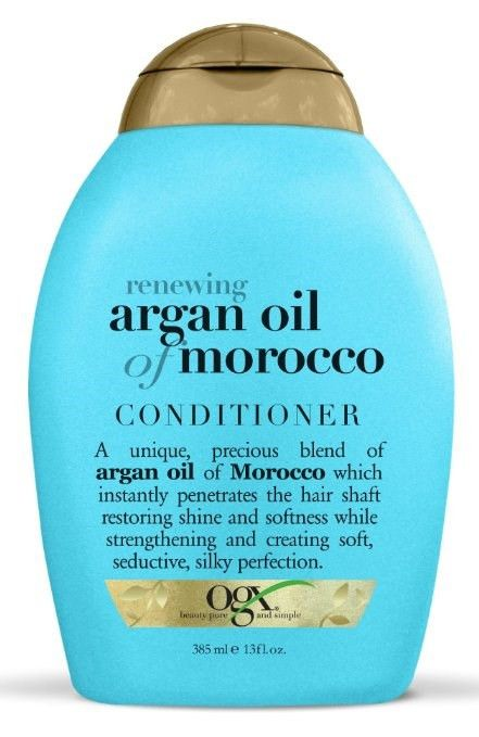 OGX Moroccan Argan Oil Conditioner will give you soft and silky hair. OGX Argan Oil Conditioner features an exotic blend of Moroccan argan oil that penetrates, moisturizes, renews and creates softness