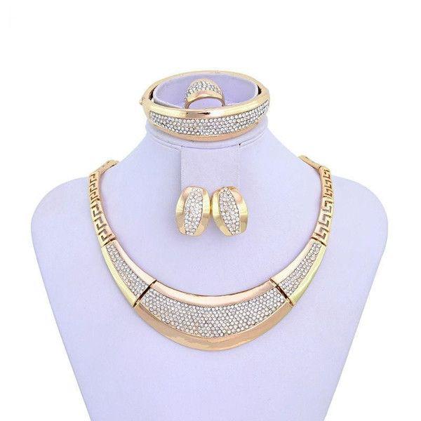 """Elegant Series"" ThickBig Jewelry Gold Plated DubaiFashion Jewelry"