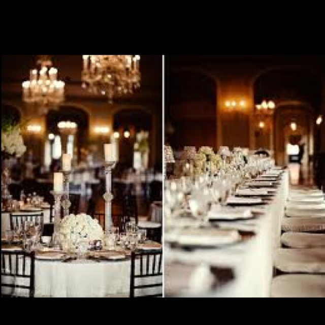 Modernize your wedding reception with the long rectangular tables. How sophisticated is this?! :): White Flower, Wedding Receptions, White Tables, Tables Sets, Tablescapes Photography, Wedding Flower, Bellisario Florists, Tables Decor, Rectangular Tables