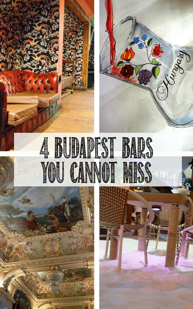 The quirkiest bars and restaurants to check out in Budapest. Click through to see my top 4.
