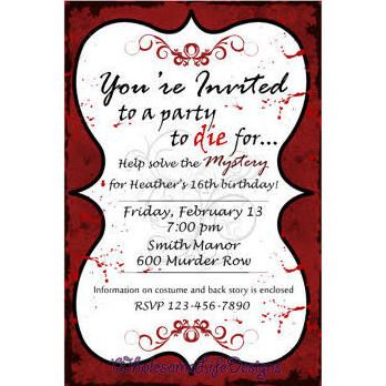 Murder Mystery Invitation - Clue Party to Die For Printable Birthday Dinner Party Invite Digital or Prints