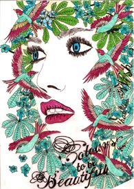 Colours to be Beautiful #illustration #delastella