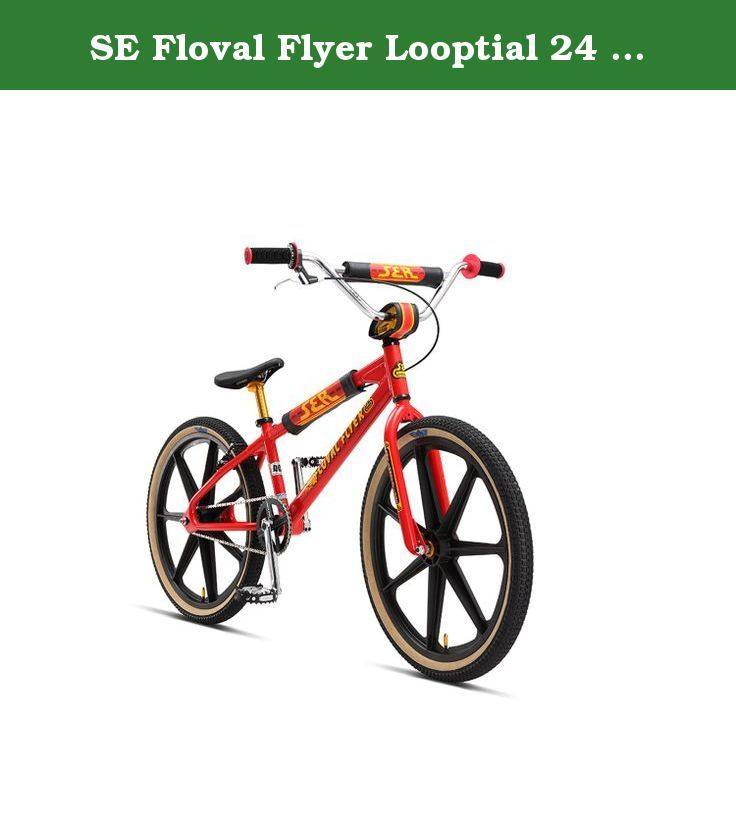 """SE Floval Flyer Looptial 24 BMX Bike - 2017 24 RED. There's a school of thought that says that BMX is really all about rad. If you're on board with that idea, then without a doubt the raddest bike of the year is the SE Floval Flyer Looptail 24"""" BMX Bike. A fully functional cruiser that's done up with all kinds of retro nods and touches, this bike looks as good as it shreds. A 6066 aluminum floval tubing looptail frame is matched up to a Cowboy Cut fork for an amazing ride. Limited edition..."""