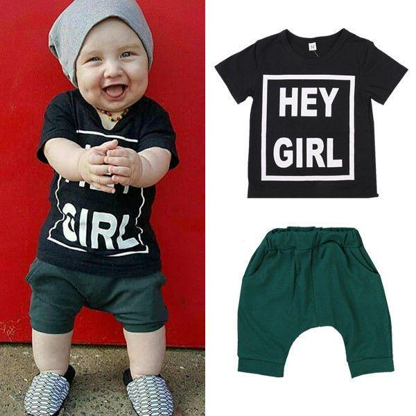 >> Click to Buy << 2016 New Summer Baby Boy Clothing Set Tshirt Top + Shorts Kid Boy Summer Set Children Boy Clothes Set  #Affiliate