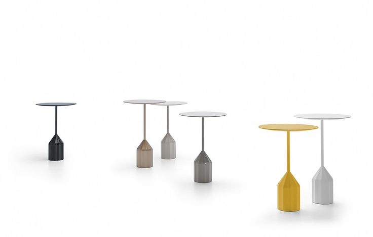 Burin Design by Patricia Urquiola. Sculptural auxiliary table available in two levels.