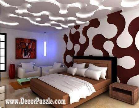 Puzzle Lights Modern Led Ceiling Lights For Bedroom False Ceiling Design Bed Pinterest False Ceiling Design Led Ceiling Lights And Ceiling