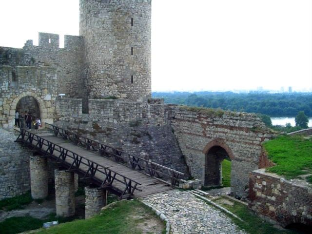 Details of Belgrade fortress Despot Stefan's tower: